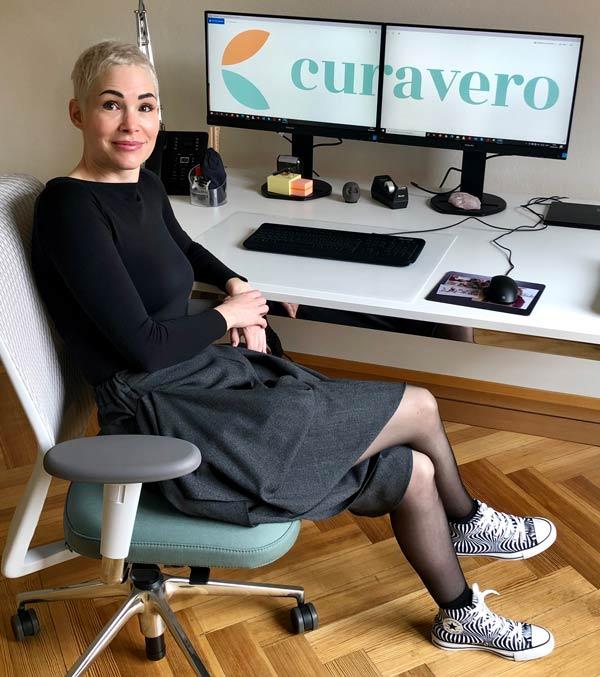Michèle Friedli in ihrem Büro